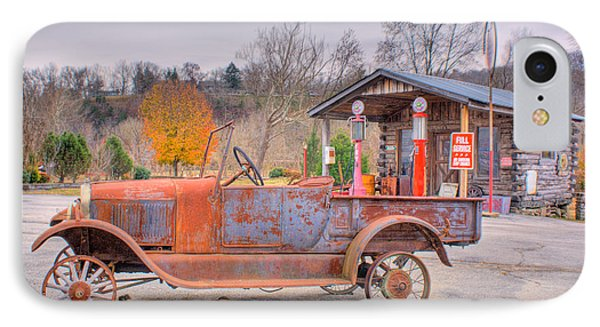 Old Truck And Gas Filling Station IPhone Case