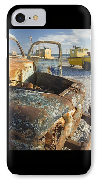 Old Truck In The Beach IPhone Case by Silvia Bruno