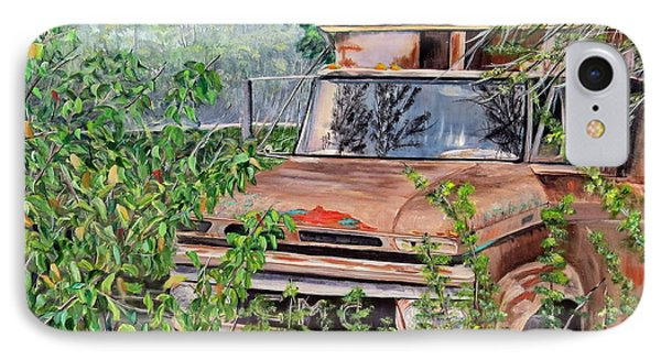 IPhone Case featuring the painting Old Truck Rusting by Marilyn  McNish