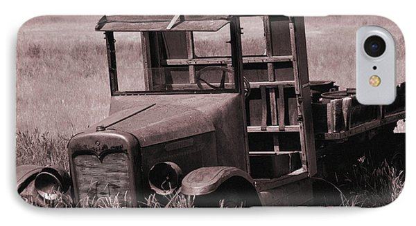 IPhone Case featuring the photograph Old Truck In Sepia by Kae Cheatham