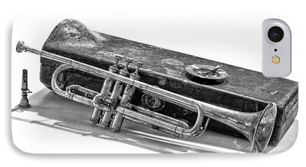 IPhone Case featuring the photograph Old Trumpet by Walt Foegelle