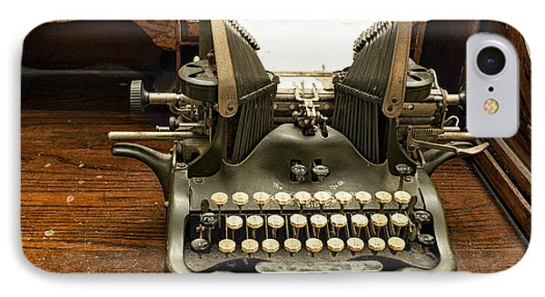 IPhone Case featuring the photograph Old Typewriter by Linda Constant