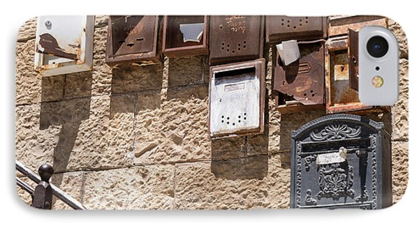 Old  Mailboxes In Jerusalem IPhone Case