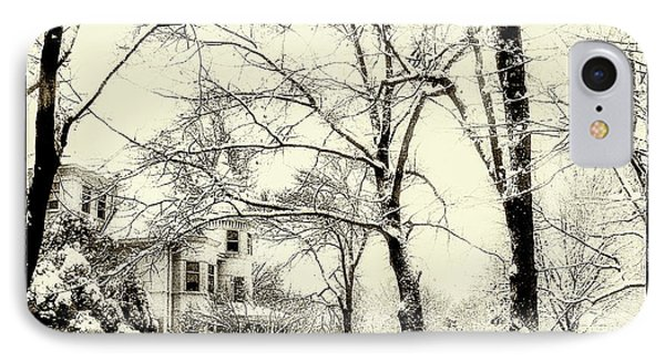 IPhone Case featuring the photograph Old Victorian In Winter by Julie Palencia
