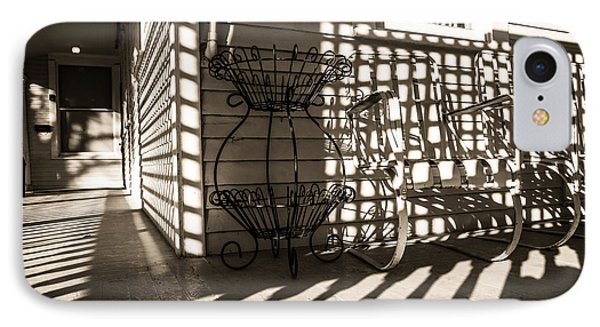 Old Victorian Porch In Sunlight And Shadow IPhone Case by Scott Hales