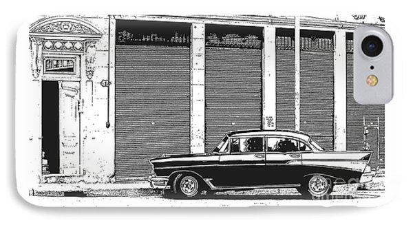 Old Vintage Car In Havana IPhone Case by Edward Fielding