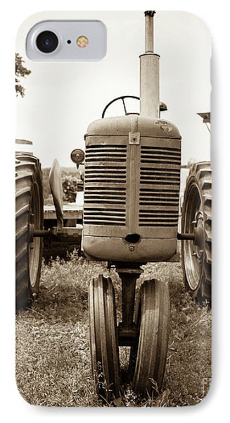 Old Vintage Tractor Cornish New Hampshire IPhone Case by Edward Fielding
