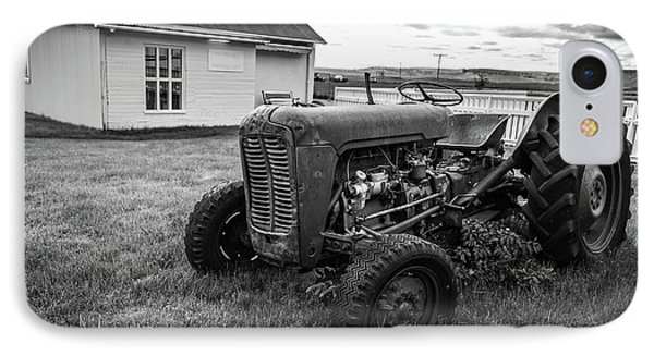 IPhone Case featuring the photograph Old Vintage Tractor Iceland by Edward Fielding