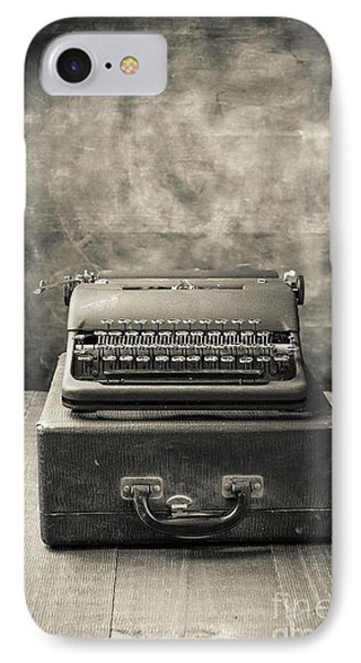 IPhone Case featuring the photograph Old Vintage Typewriter  by Edward Fielding