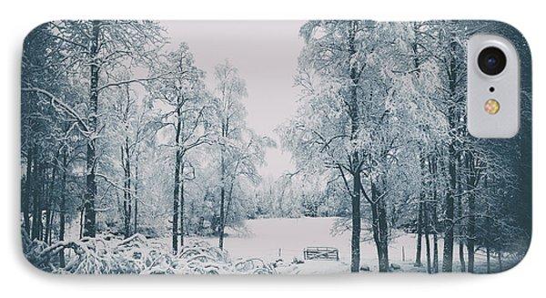 Old Vintage Winter Landscape IPhone Case by Christian Lagereek