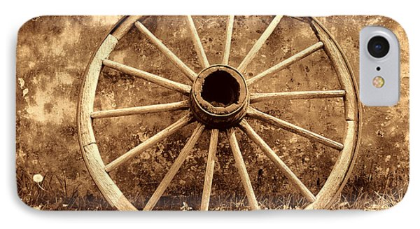 Old Wagon Wheel IPhone Case by American West Legend By Olivier Le Queinec