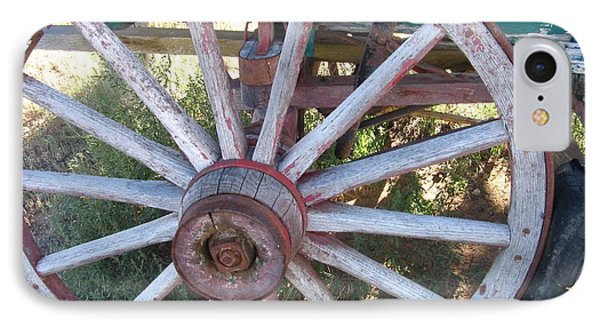 IPhone Case featuring the photograph Old Wagon Wheel by Dora Sofia Caputo Photographic Art and Design