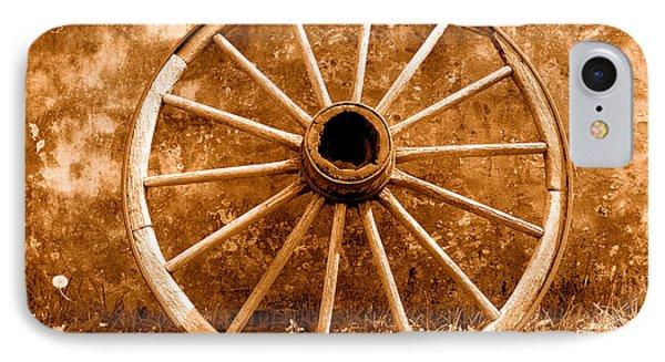Old Wagon Wheel - Sepia IPhone Case