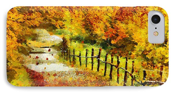 Old Way In Fall - Pa IPhone Case by Leonardo Digenio