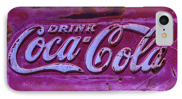 Old Weathered Coke Sign IPhone Case by Garry Gay