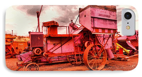 IPhone Case featuring the photograph Old Wheat Harvestor by Jeff Swan