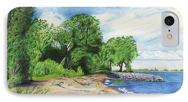 IPhone Case featuring the drawing Old Woman Creek - Huron Ohio by Shawna Rowe