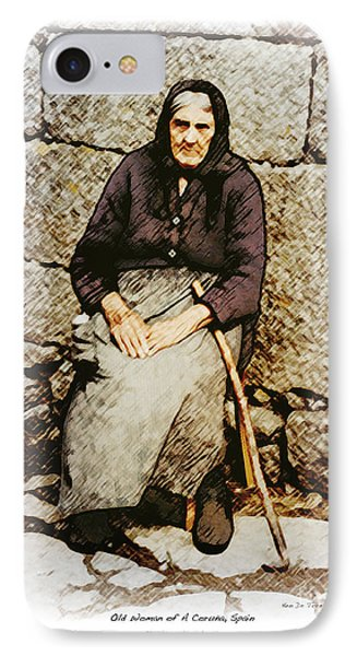 Old Woman Of Spain IPhone Case by Kenneth De Tore
