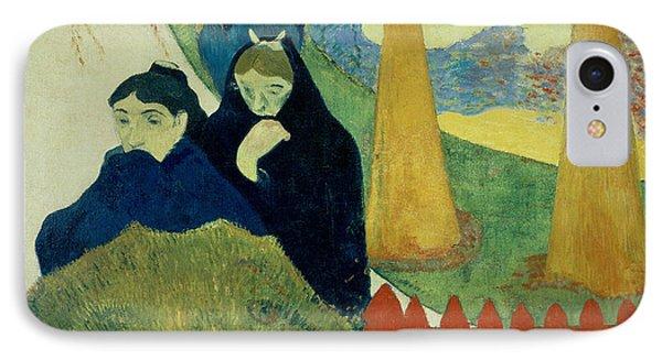 Old Women Of Arles Phone Case by Paul Gauguin