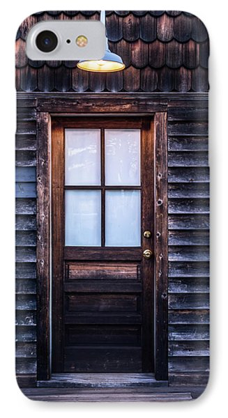 Old Wood Door And Light IPhone Case by Terry DeLuco