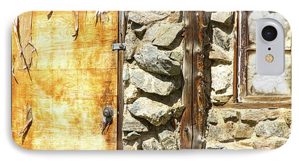 Old Wood Door Window And Stone Phone Case by James BO  Insogna