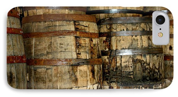 Old Wood Whiskey Barrels IPhone Case