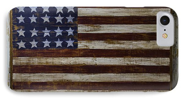 Old Wooden American Flag IPhone Case by Garry Gay