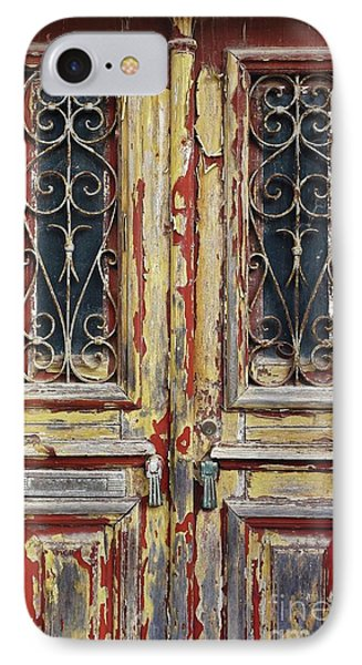 Old Wooden Doors IPhone Case by Carlos Caetano