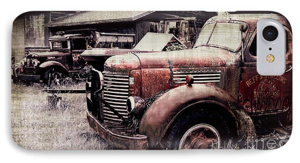 Old Work Trucks IPhone Case by Perry Webster