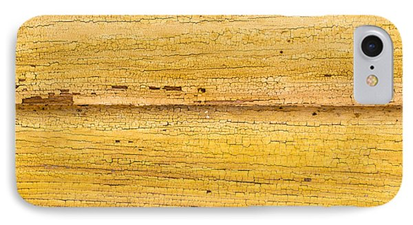 Old Yellow Paint On Wood IPhone Case by John Williams