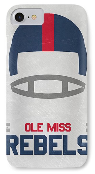 Ole Miss Rebels Vintage Football Art Phone Case by Joe Hamilton