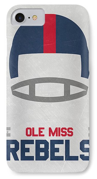 Ole Miss Rebels Vintage Football Art IPhone Case