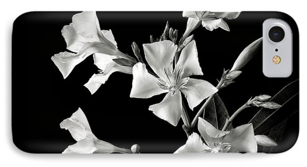 Oleander In Black And White Phone Case by Endre Balogh