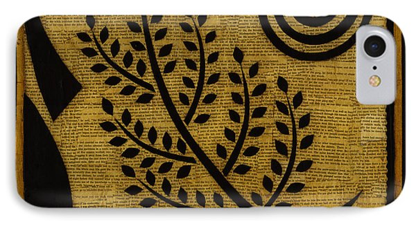 IPhone Case featuring the mixed media Olive Branch by Gloria Rothrock
