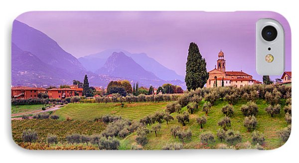Olive Trees And Vineyard. Evening In Lombardy IPhone Case by Dmytro Korol