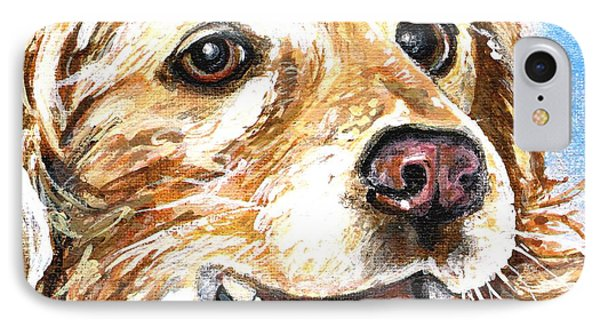 IPhone Case featuring the painting Oliver From Muttville by Mary-Lee Sanders