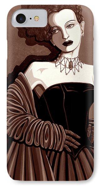 Olivia In Sepia Tone Phone Case by Tara Hutton