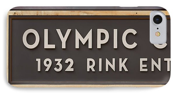 Olympic Center 1932 Rink Entrance IPhone Case by Stephen Stookey