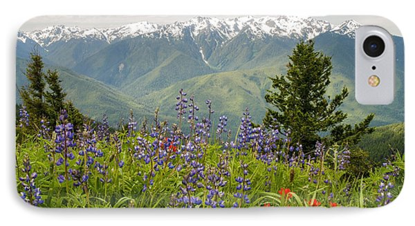 Olympic Mountain Wildflowers IPhone Case