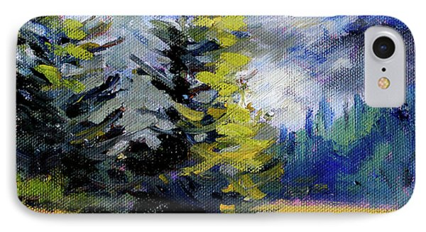 IPhone Case featuring the painting Olympic Range by Nancy Merkle