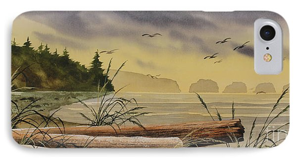 IPhone Case featuring the painting Olympic Seashore Sunset by James Williamson