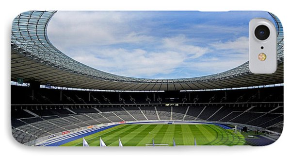 Olympic Stadium Berlin IPhone Case by Juergen Weiss