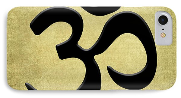 IPhone Case featuring the painting Om Gold by Kandy Hurley