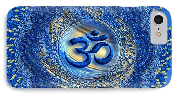 IPhone Case featuring the digital art Om Mandala by Giada Rossi