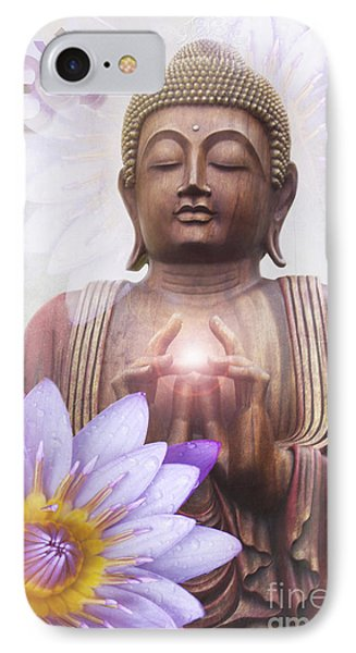 Om Mani Padme Hum - Buddha Lotus IPhone Case by Sharon Mau