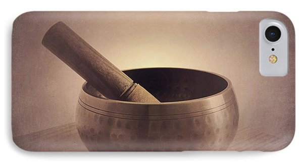 IPhone Case featuring the photograph Om Singing Bowl by Chris Scroggins