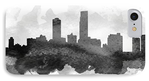 Omaha Cityscape 11 IPhone Case by Aged Pixel