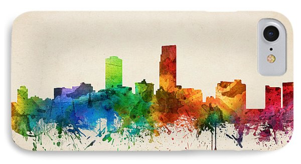 Omaha Nebraska Skyline 05 IPhone Case by Aged Pixel