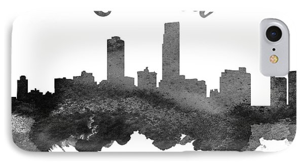 Omaha Nebraska Skyline 18 IPhone Case by Aged Pixel