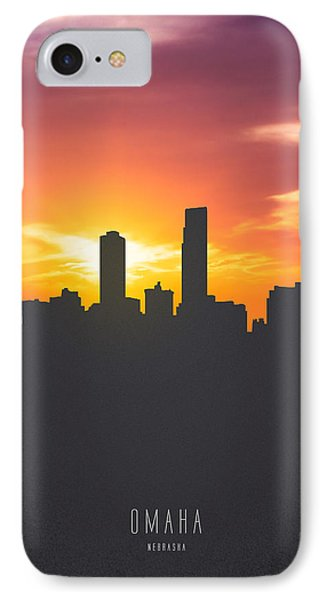 Omaha Nebraska Sunset Skyline 01 IPhone Case